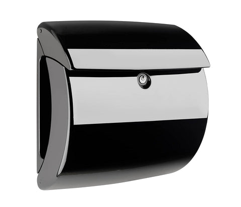 Burg-Wachter Piano 886 S Post Box in Black - MODA Doors