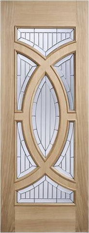 Lpd External Majestic Oak Ig Zinc Glazed Entrance Door - External Doors