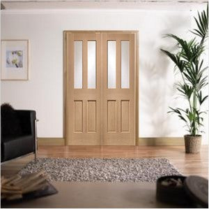 Xl Joinery Internal Oak Malton Clear Glass Door Pair - Internal Doors
