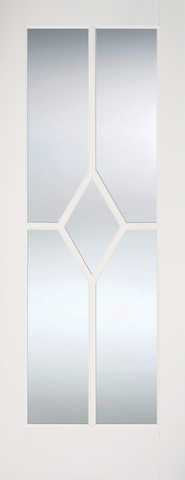 Lpd Internal Reims Clear Bevelled Glazed White Prime Plus Door - Internal Doors
