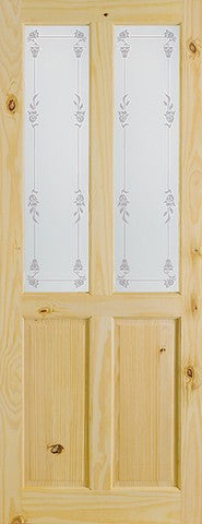 Lpd Internal Knotty Pine Door Richmond Bluebell Glass Door - Internal Doors