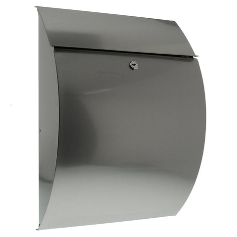 Burg-Wachter Riviera 3835 Ni Post Box in Stainless Steel - MODA Doors