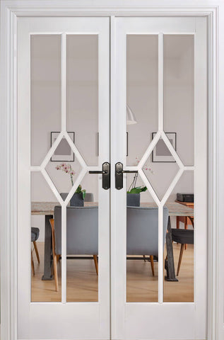 Lpd Internal White Prime Reims Room Divider Set Door - Internal Doors