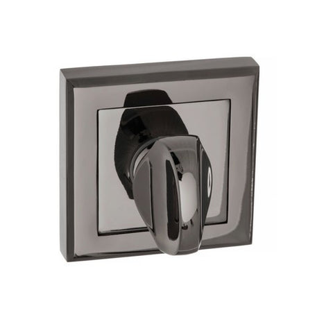 Atlantic Handles Status Wc Turn On Round Rose In A Black Nickel Finish - Escutcheons & Wc Turns