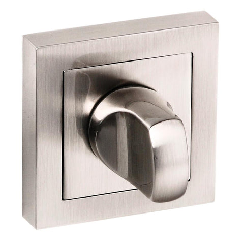 Senza Pari WC Turn and Release to Suit Square Rose in a Satin Nickel Finish - MODA Doors  - 1