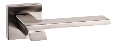 Senza Pari Giovanni Lever on Flush Rose in a Satin Nickel Finish Pair of Door Handles - MODA Doors