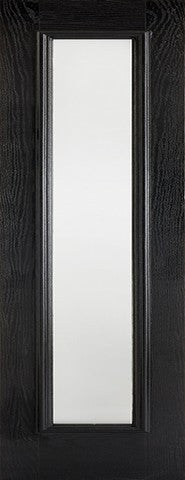 Lpd External Grp Black & White Frosted Sidelight - External Doors