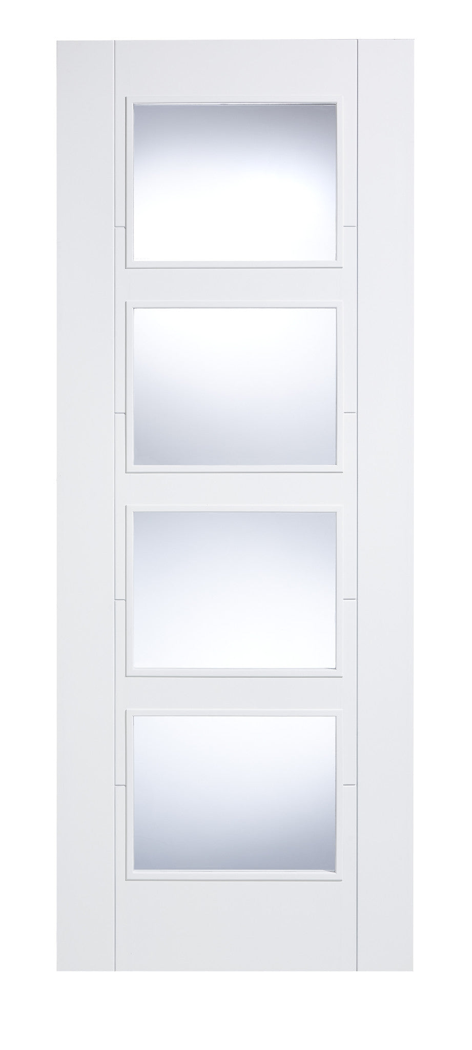 Buy Lpd Internal Vancouver White 4 Light Clear Glass Door Online Now