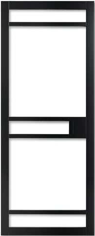 Weekamp Doors Internal Industrial 5 Panel Glazed Black Door with 80mm Stiles