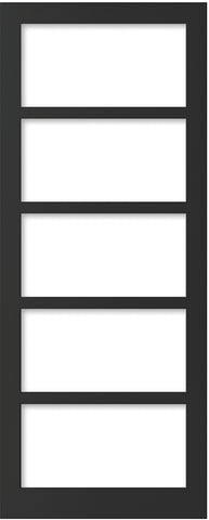 Weekamp Doors Internal Industrial Style 5 Panel Glazed Black Door with 95mm Stiles