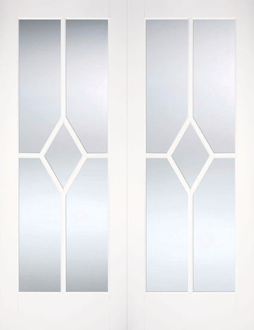 Lpd Internal Pairs Reims Bevelled Glazed Prime Plus Door - Internal Doors