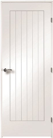 XL Joinery White Primed 'Simpli' Doorset for Standard White Primed Fire Doors