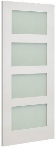 Deanta Doors Internal Coventry White Primed Frosted Glass Door - MODA Doors