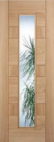 Lpd Internal Oak Edmonton Glazed Door - Internal Doors