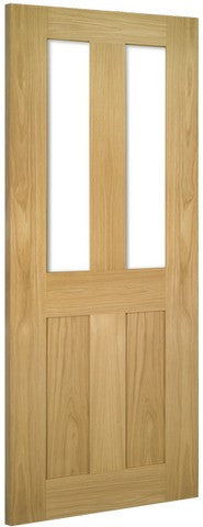 Deanta Doors Internal Eton Oak Glazed Un-Finished Door - Internal Doors