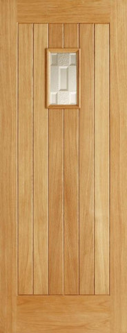 Lpd External Oak Suffolk Double Glazed Square Cottage Door - External Doors