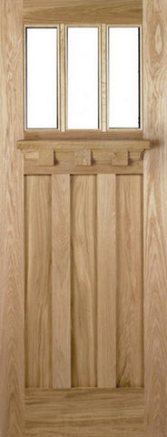 Lpd External Oak Tuscany Un-Glazed Door - External Doors