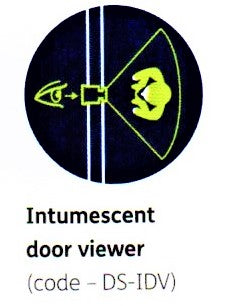 XL Joinery Simpli Doorset Intumescent Door Viewer