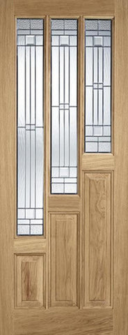 Lpd External Coventry Oak With Elegant Zinc Glass Door - External Doors