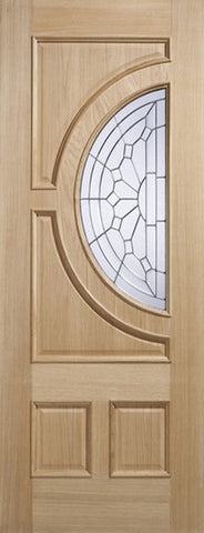 Lpd External Empress Oak Ig Zinc Glazed Entrance Door - External Doors