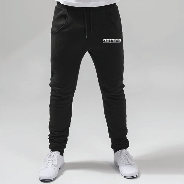 Stay Stuntin Black Joggers