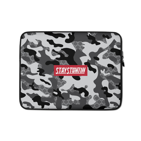 Stay Stuntin - Grey Camo Laptop Sleeve