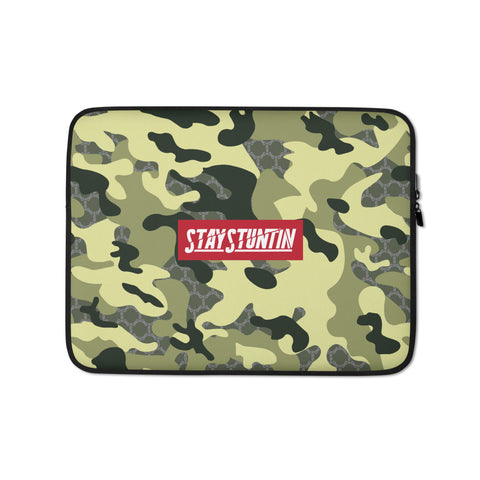 Stay Stuntin - Green Camo Laptop Sleeve