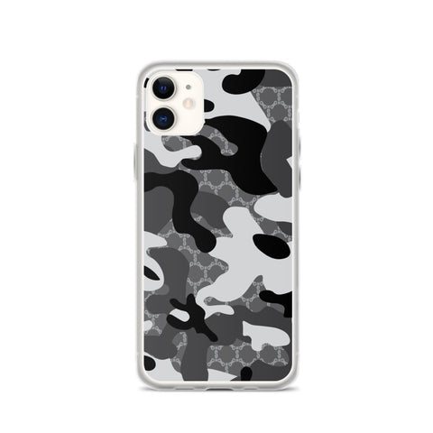 Stay Stuntin - Grey Camo iPhone Case