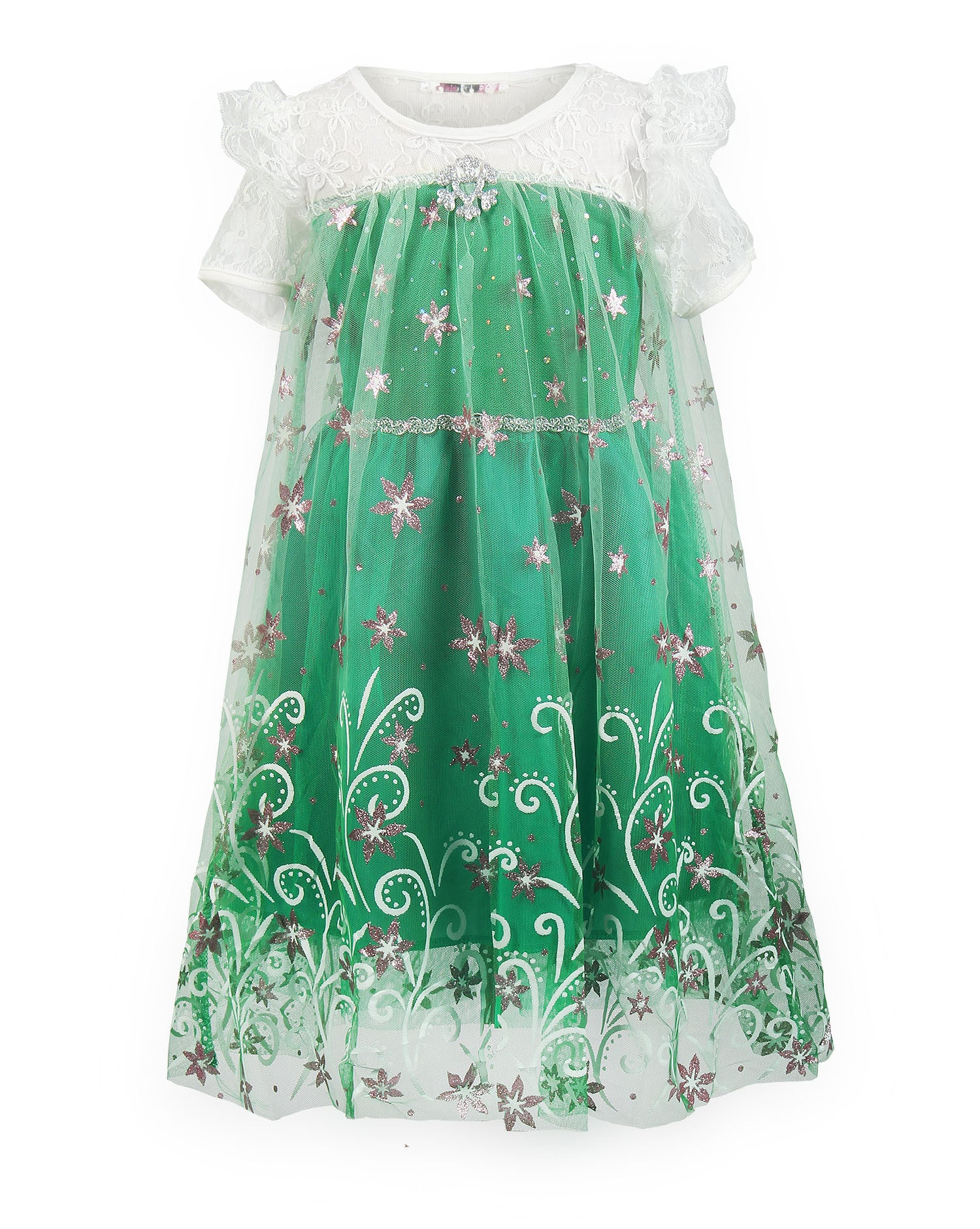 jerrisapparel green girls christmas party dress