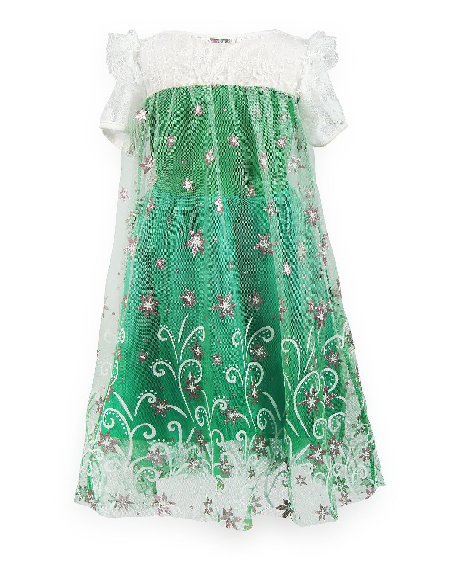 JerrisApparel Green Girls\' Christmas Party Dress