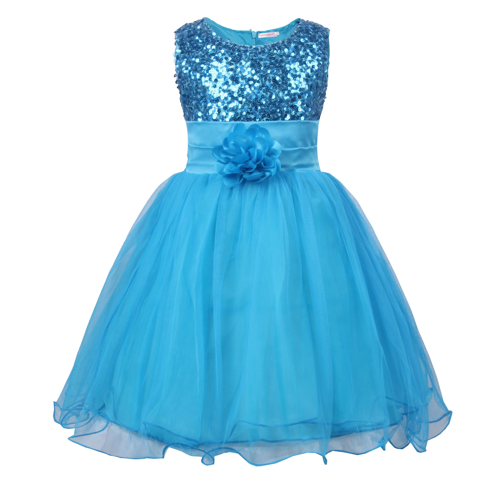 Little Girls\' Sequin Mesh Flower Ball Gown Party Dress Tulle Prom ...