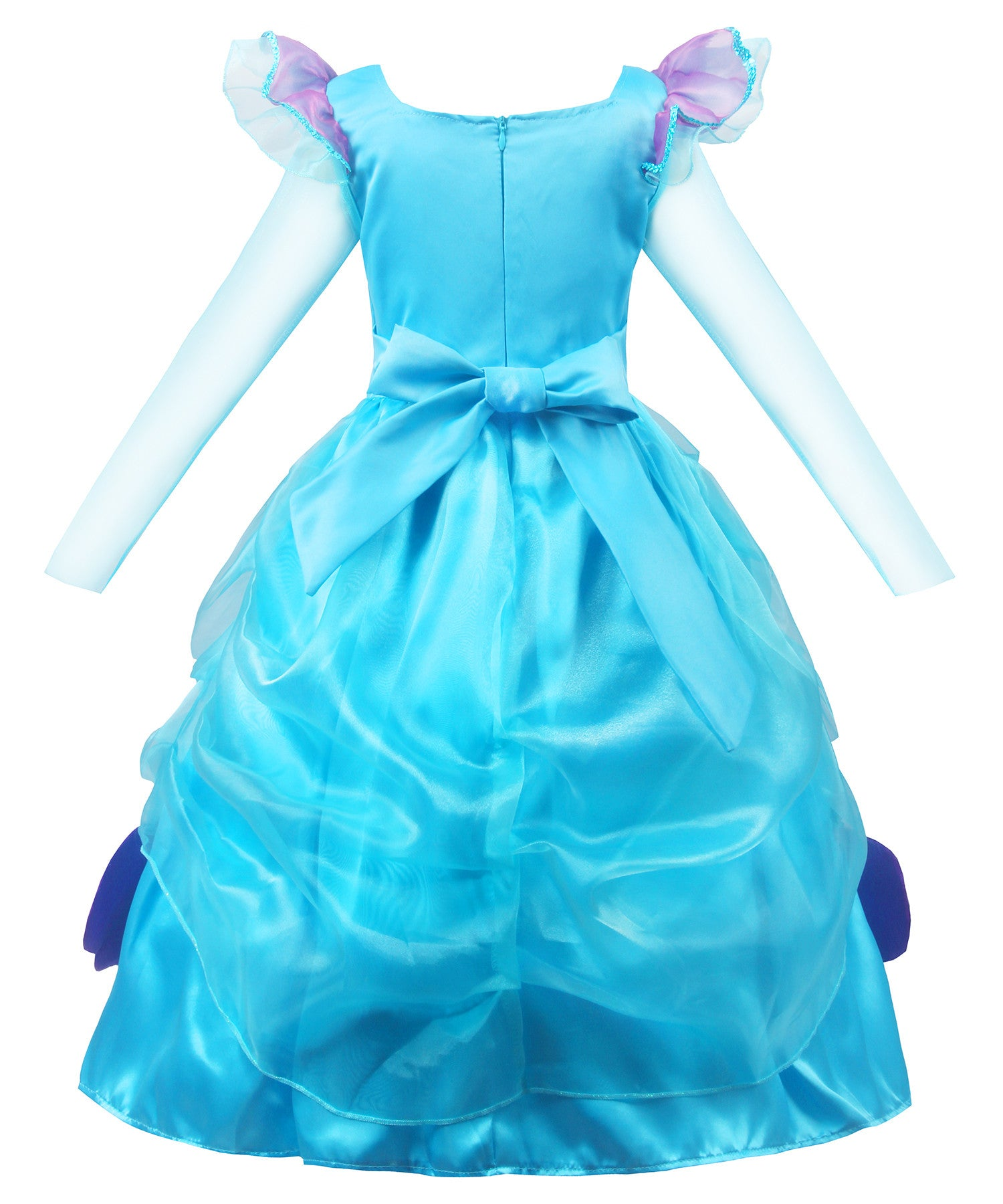 b972a12a6 Long Sleeve Little Girl s Mermaid Costume Princess Dress Up ...