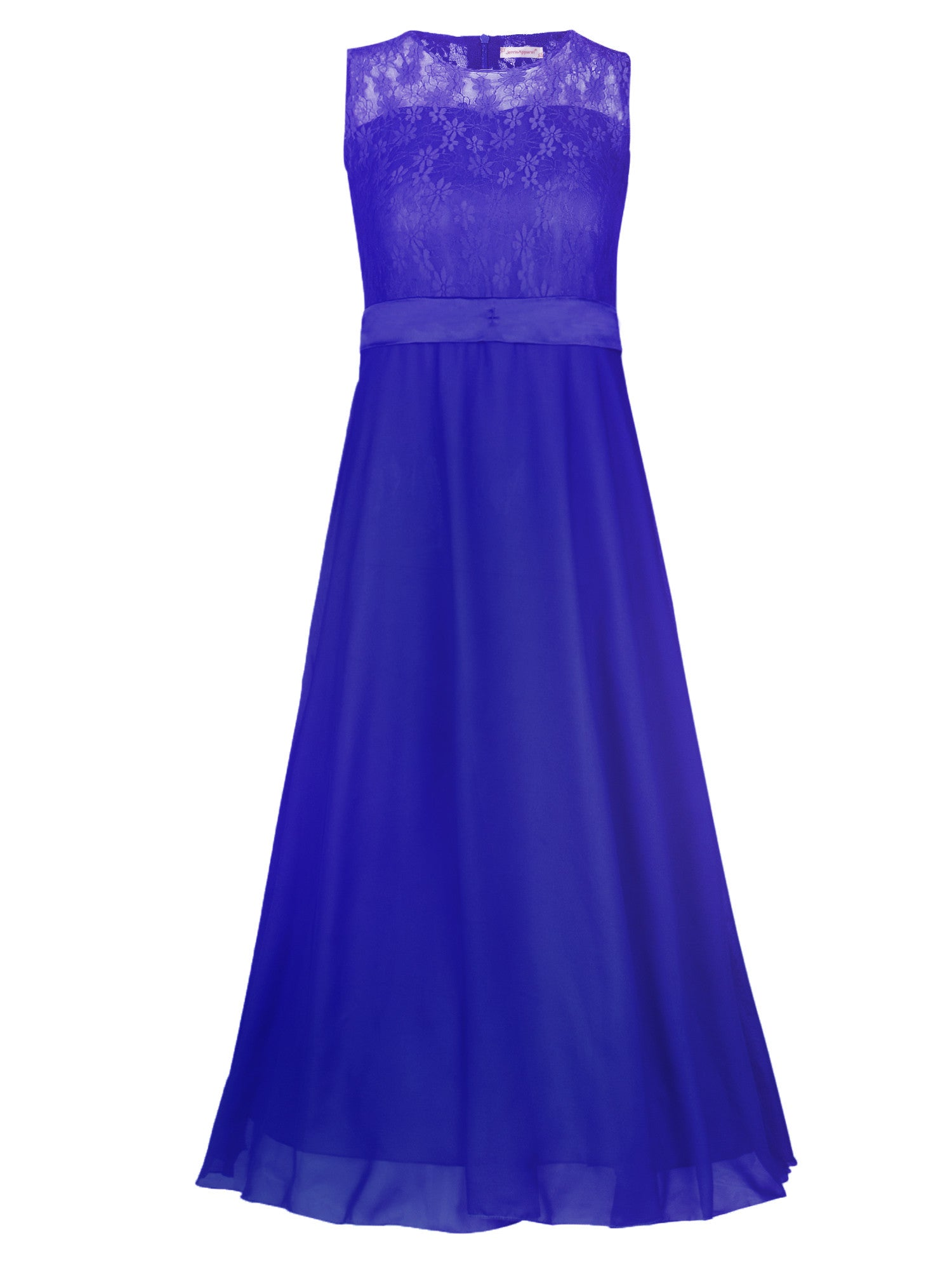 aeafa12927c JerrisApparel Big Girls Floral Lace Chiffon Bridesmaid Party Long Maxi