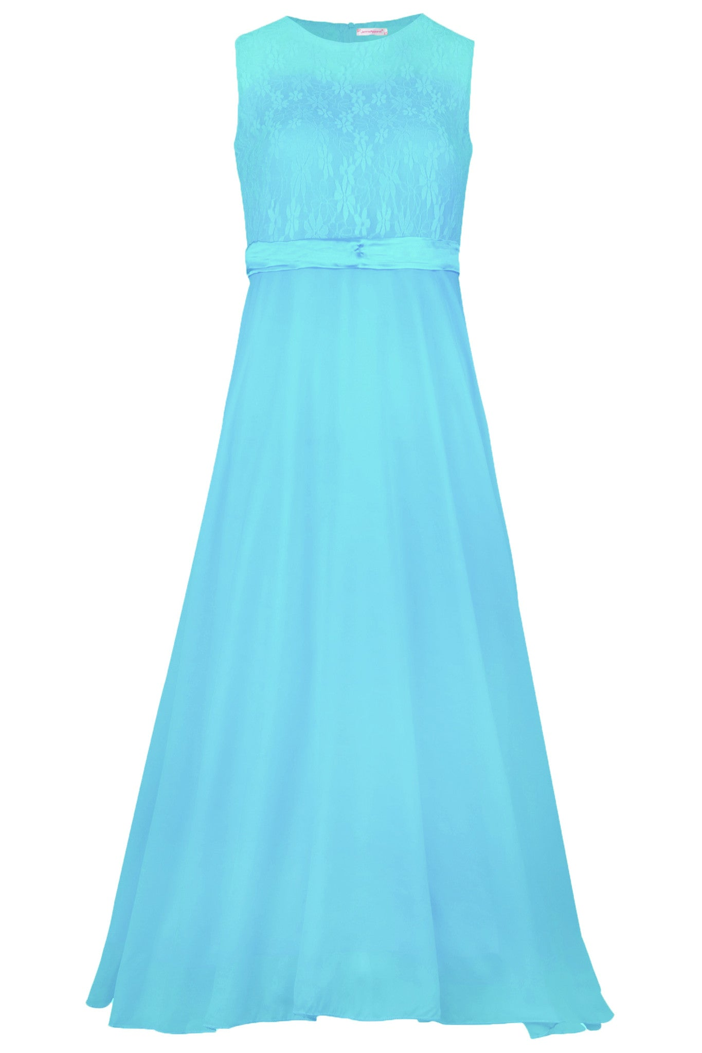 JerrisApparel Big Girls Floral Lace Chiffon Bridesmaid Party Long Maxi