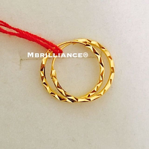 16mm Bali loop earrings 916 Gold Mbrilliance