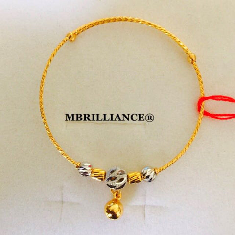 Baby's & kid's bangle 22k / 916 Gold by Mbrilliance