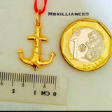 3D Anchor pendant 916 Gold by Mbrilliance