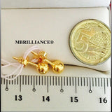 4mm plain round Earstuds earrings 916 gold Gold by Mbrilliance