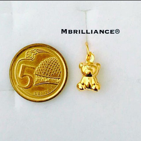 Baby Bear pendant 916 Gold by Mbrilliance