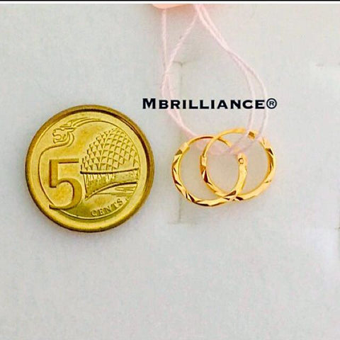 Baby loop earrings 916 Gold Mbrilliance
