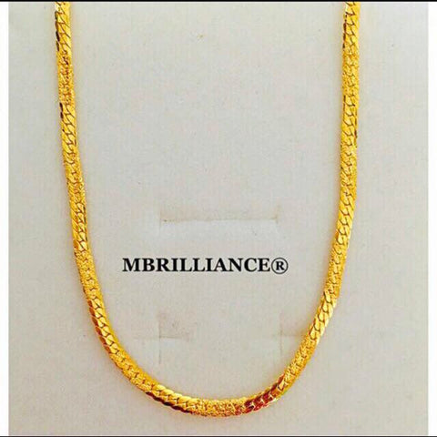 Cowboy chain, 916 Yellow Gold by Mbrilliance