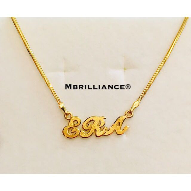 Customise name pendant necklace set solid 22k gold 916 gold by home products customise name pendant necklace set solid 22k gold 916 gold by mbrilliance aloadofball Image collections
