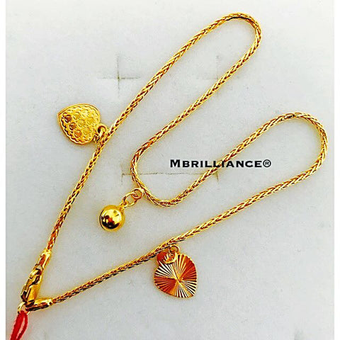 Ice cream Anklet 916 Gold By Mbrilliance®