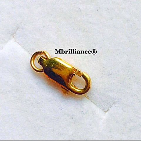Lobster spring hook - 916 gold mbrilliance (others / spare / gold parts)