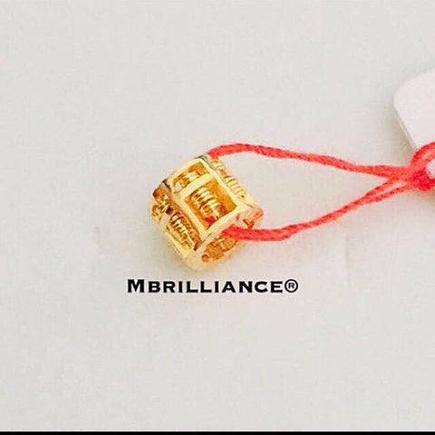 Loop Abacus pendant 916 Gold by Mbrilliance