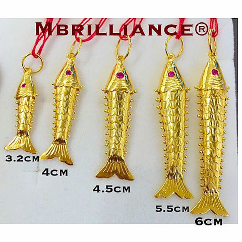 Lucky fish pendant 916 Gold by Mbrilliance