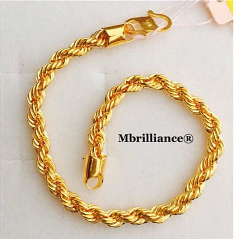 Rope bracelet 22k / 916 Yellow Gold by Mbrilliance