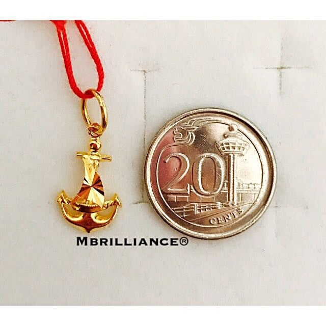 Sail anchor pendant 916 Gold by Mbrilliance
