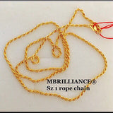 Size 1 rope chain necklace, 916 Gold by mbrilliance