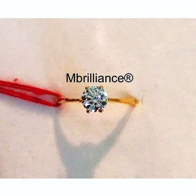 Solitaire Cz stone ring 22k / 916 solid gold Zirconia ring by Mbrilliance®